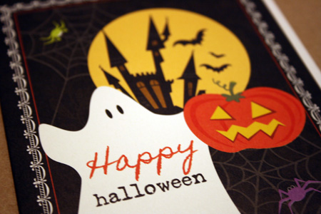Yellow Bird Paper Greeting Halloween
