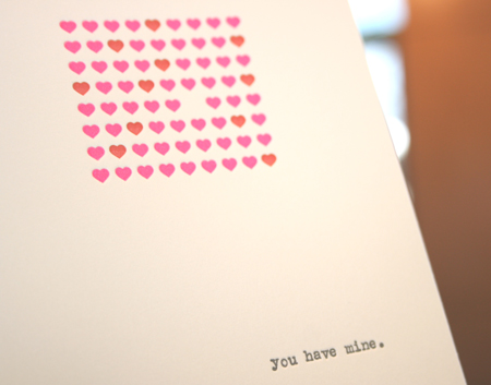 Lark Press Valentine