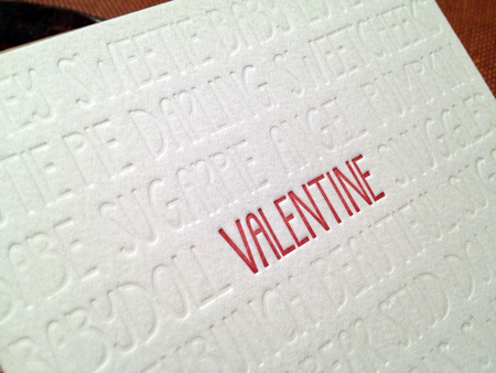 Sapling Press Valentine