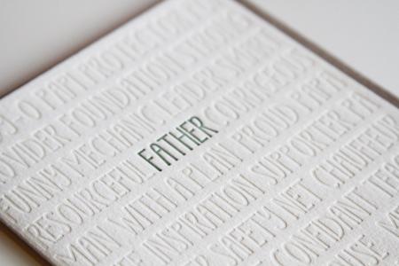 Father Letterpress Word