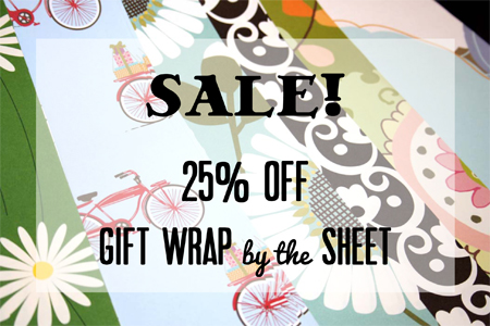 Gift wrap by the sheet sale