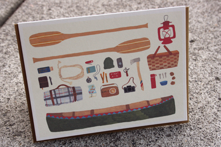 Small Adventure Canoe  Card
