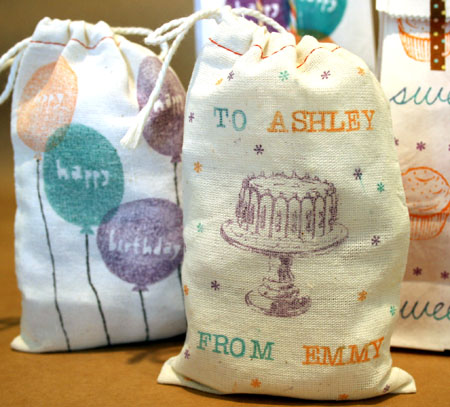 Stamp on Muslin Bags