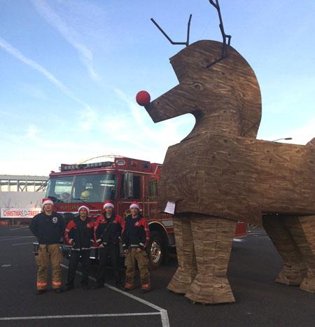 Reindeer and  firemen