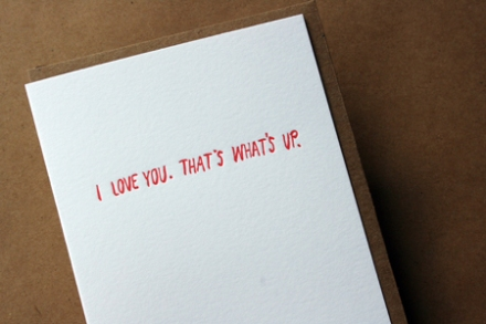 Letterpressed card made in Portland by Egg Press, $4.50.