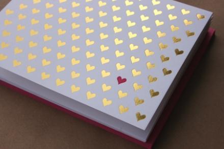 Sugar Paper foil hearts, $17 for box of 6