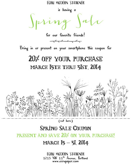 Spring Sale 2014